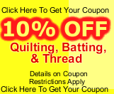 10% off quilting