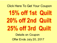 25% Off Quilting