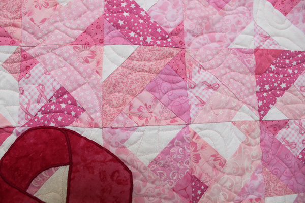 cancer ribbon quilt wall hanging