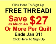 Longarm quilting service free thread